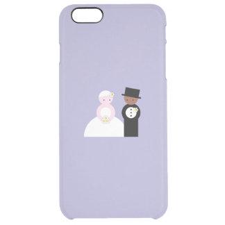 Pares mezclados lindos del boda funda clearly™ deflector para iPhone 6 plus de unc