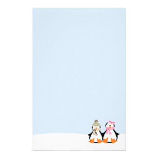 Pares militares del pingüino papelería