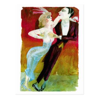 Pares modernos del baile de Otto Dix Postal