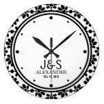 Pares modernos del boda personalizados relojes de pared