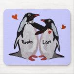 Pares Mousepads del amor del pingüino Tapete De Raton