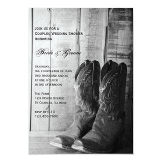 """Pares occidentales rústicos de las botas de invitación 5"""" x 7"""""""