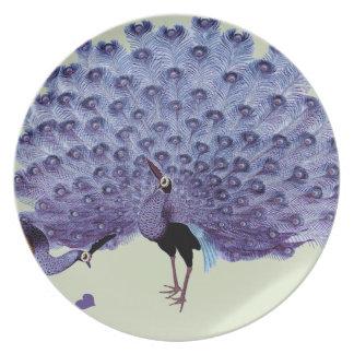 Pares perfectos púrpuras del arte Nouveau de los Platos Para Fiestas