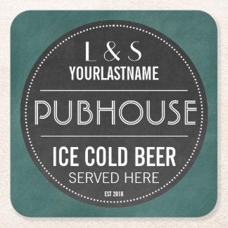Pares personalizados muestra Pubhouse de la Posavasos Personalizable Cuadrado
