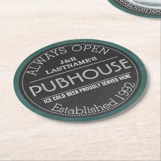 Pares personalizados muestra Pubhouse de la Posavasos Desechable Redondo