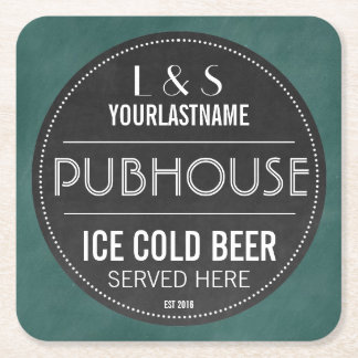 Pares personalizados muestra Pubhouse de la Posavasos De Cartón Cuadrado