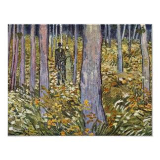 Pares que caminan en el bosque de Vincent van Gogh