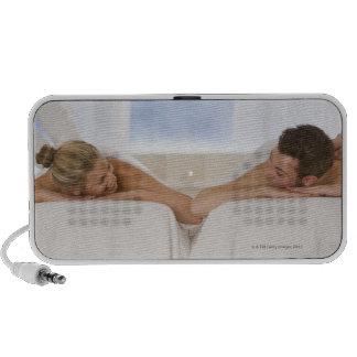 Pares que consiguen masajes portátil altavoz