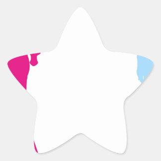 pares que cuentan con al bebé pegatina en forma de estrella