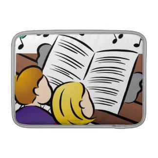 Pares que juegan el piano funda macbook air