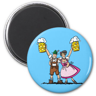 Pares redondos de la cerveza de Oktoberfest del im Iman