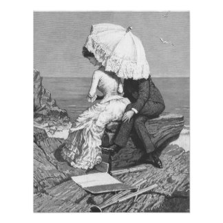Pares románticos del Victorian del vintage por la Comunicados Personalizados