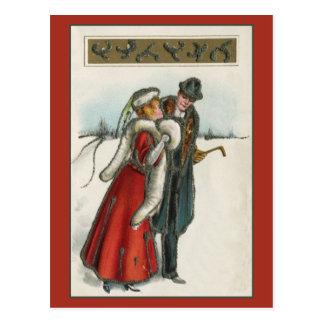 pares románticos del Victorian del vintage Tarjetas Postales