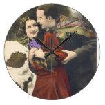 Pares románticos del vintage - fotografía relojes de pared