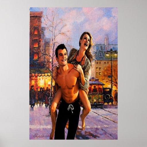 Pares románticos póster