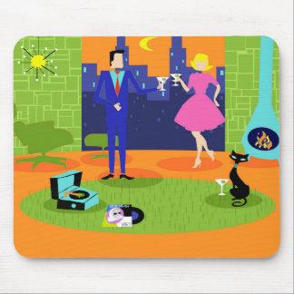 Pares románticos retros Mousepad de la tarde Tapete De Ratones