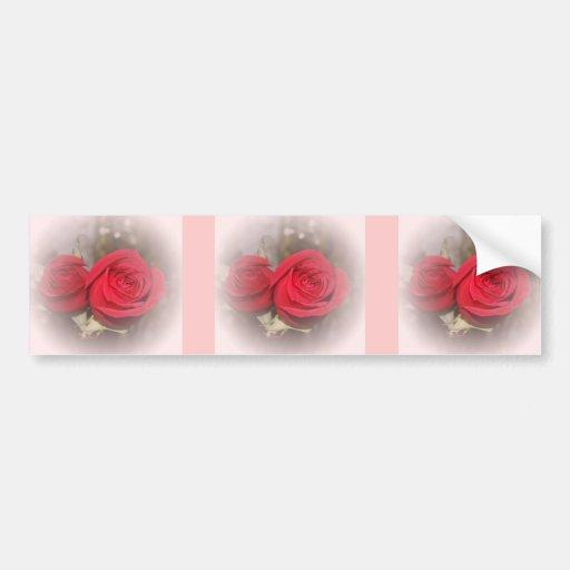 Pares suaves del rosa rojo etiqueta de parachoque