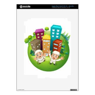 Pares y edificios musulmanes pegatina skin para iPad 3