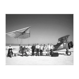Paresev 1-A and Tow Plane with Crew and Pilot Canvas Print