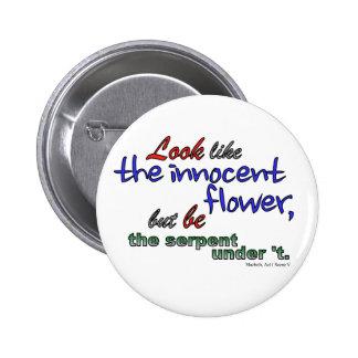 Parezca la flor inocente, pero sea la serpiente pin redondo de 2 pulgadas