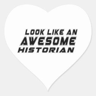 Parezca un historiador impresionante pegatina en forma de corazón