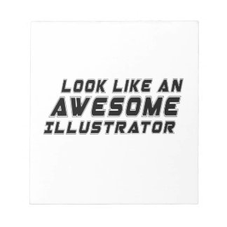 Parezca un ilustrador impresionante bloc de notas
