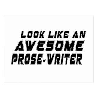 Parezca un impresionante Prosa-escriben Postales