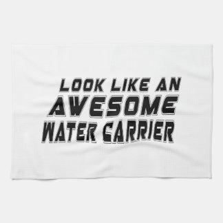 Parezca un portador de agua impresionante toallas