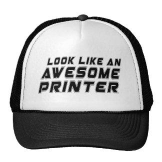 Parezca una impresora impresionante gorros bordados