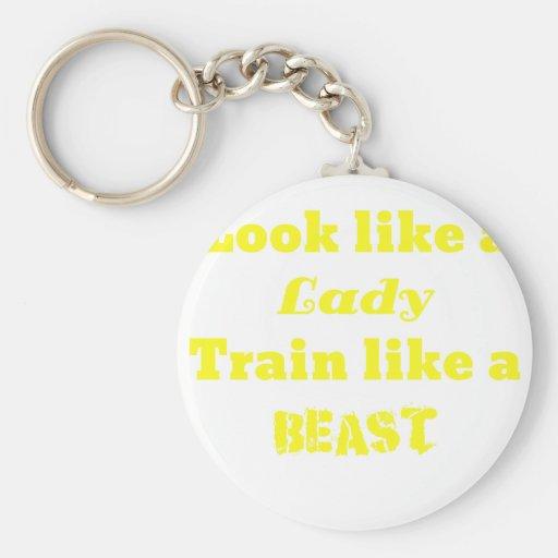 Parezca una señora Train como una bestia Llaveros Personalizados