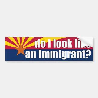¿Parezco un inmigrante? Pegatina Pegatina Para Auto