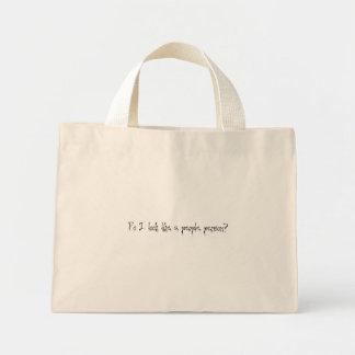 ¿Parezco una persona de la gente? bolso Bolsa Tela Pequeña