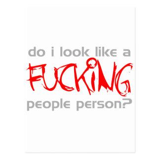 ¿Parezco una persona de la gente del ing del *** d Postales
