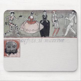 'Parfois il m'arrive' (ink and w/c on paper) Mouse Pad