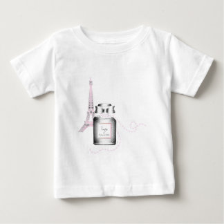 Parfum Bottle with Eiffel Tower and Rope Baby T-Shirt