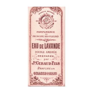Parfum de Fleurs Vintage French Canvas Print