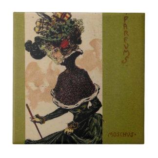 Parfums por Raphael Kirchner Azulejo Cuadrado Pequeño
