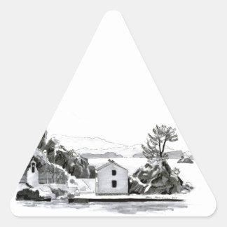 Parga Island Triangle Sticker