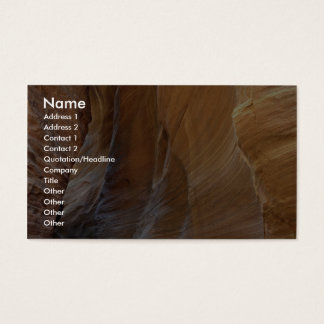 Paria Canyon, Utah, U.S.A. Business Card