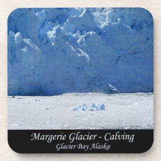 Parida del glaciar de Margerie/Glacier Bay Alaska Posavasos De Bebidas