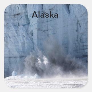 Parida del glaciar en Alaska Pegatina Cuadrada