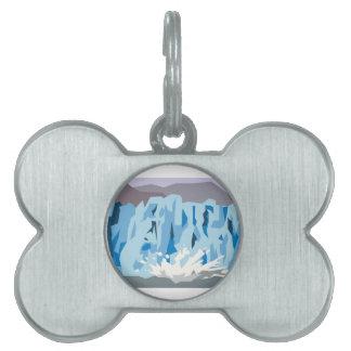 Parida del glaciar placas de nombre de mascota