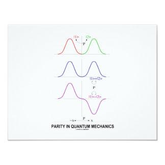 """Paridad en los mecánicos de Quantum Invitación 4.25"""" X 5.5"""""""