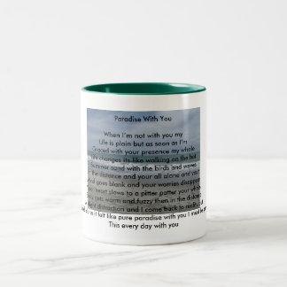 paridice with you Two-Tone coffee mug