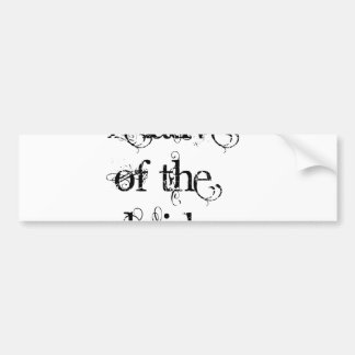 Pariente de la novia pegatina de parachoque