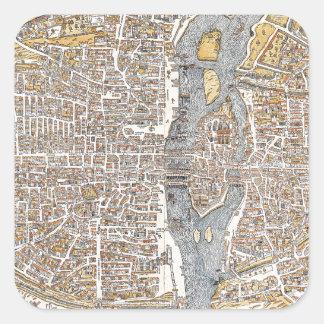 París 1550 pegatinas cuadradases