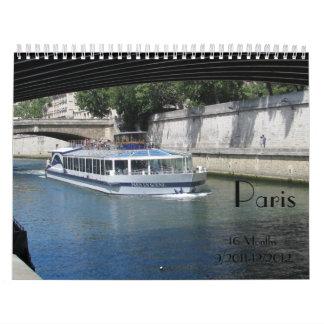 Paris 16 Month Calendar