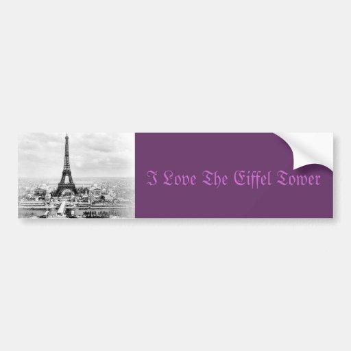Paris 1889 car bumper sticker