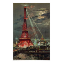 Paris 1889 - Expostion universal Eiffel more tower