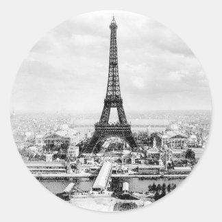 París 1889 pegatina redonda